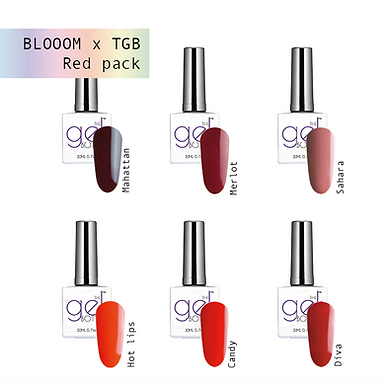 Perfect red shades BLOOOM pack