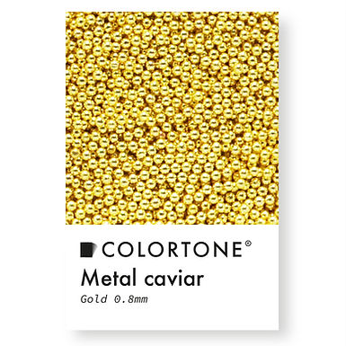 Metal caviar Gold 0,8mm