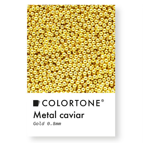 Metal caviar Gold 0,8mm