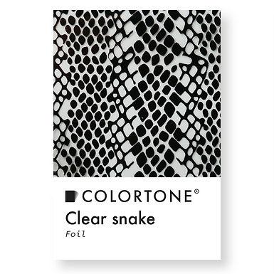 Clear snake foil