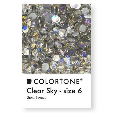 Clear Sky - Size 6 - Colortone Gemstones