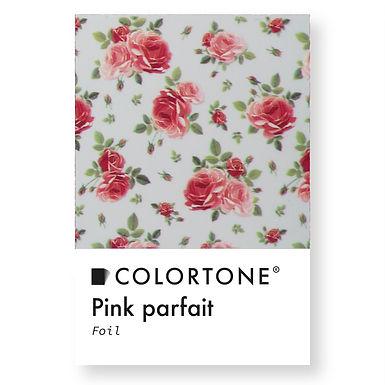 Clear Pink parfait foil