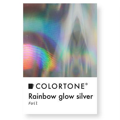 Rainbow glow silver  foil