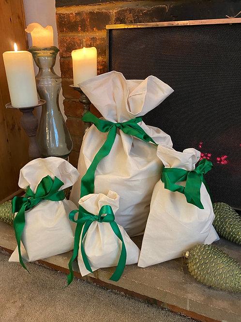 Eco Fabric Gift Bags - set of 4