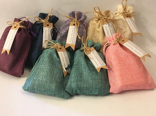 Set of 3 Traditional French Soaps presented in hessian bags