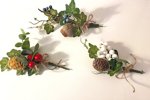 Mini Festive Clusters - set of 3