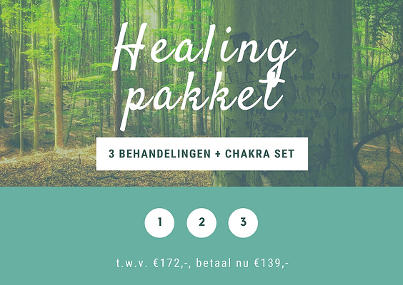 Healing Pakket: 3 behandelingen + chakra edelstenenset