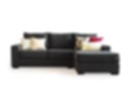 Sofá 2.50m + puff tapizado en lino onyx