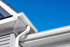 Colonial white gutter guard system,  sof