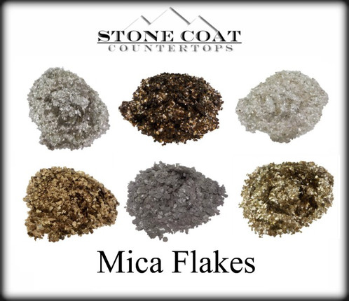 These Are The Mica Flakes We Use For One Of A Kind Effects In Your Custom  Stone Coat Countertop Surfaces. We Use Mica To Create Quartz Looks As Well  As Add ...