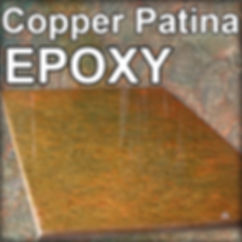 Copper Patina Epoxy Stone Coat Counterto
