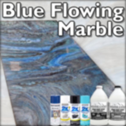 Blue Flowing Marble Stone Coat Counterto