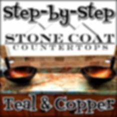 Teal and Copper Epoxy step by step guide