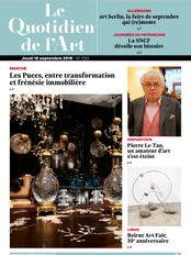 LE QUOTIDIEN DES ARTS SEPTEMBRE 2019