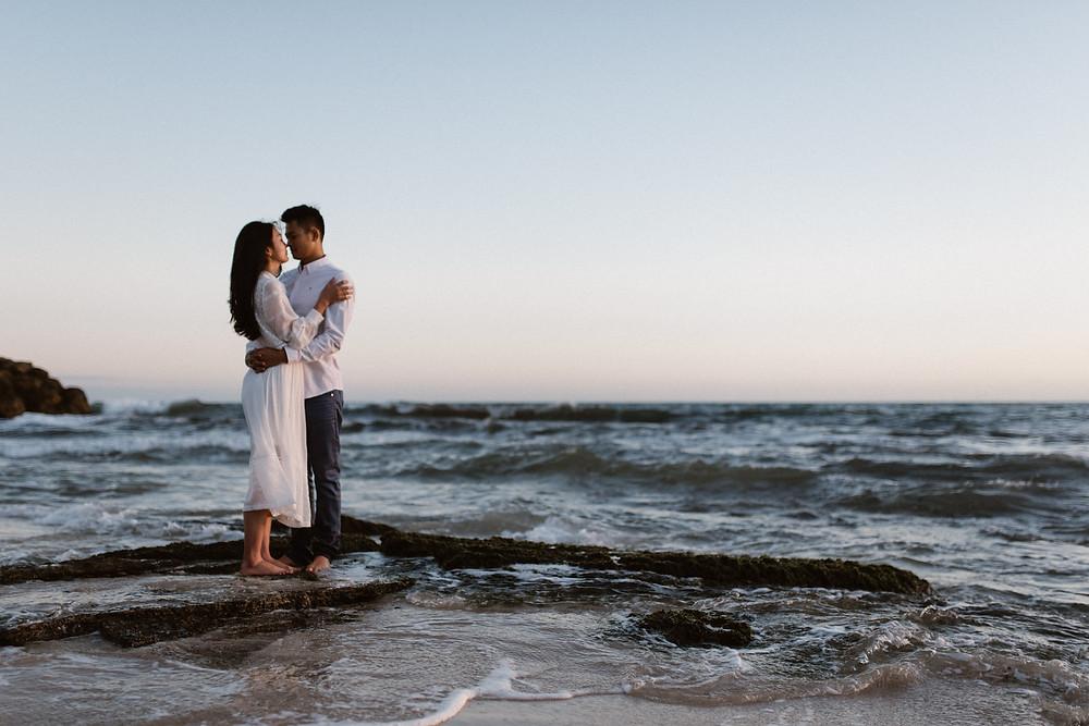 Burns Beach Engagement - Perth Wedding Photographer - Rachel Puan Photography