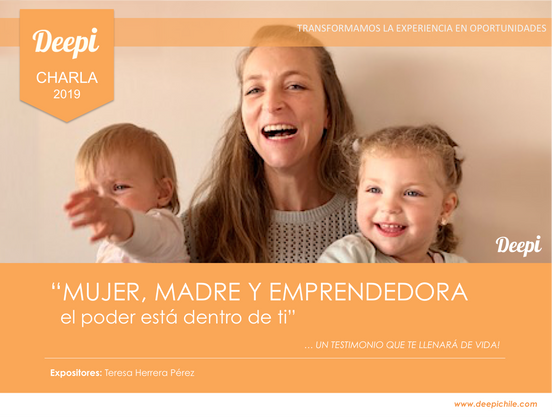 CHARLA MUJER, MADRE Y EMPRENDEDORA