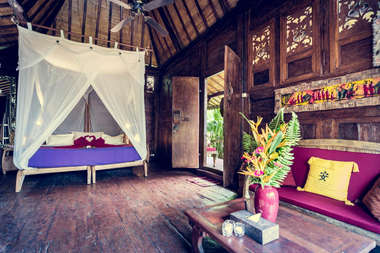 Join Alpha Yoga School for our residential, all inclusive 200-hour Vinyasa Flow and Ashtanga Vinyasa Yoga Teacher Training in Bali, Indonesia. Deepen your personal yoga practice with Alpha Yoga School team of experienced yoga teachers. Learn safe yoga asana alignment and adjustment, functional yoga anatomy, Vedic yoga philosophy, yoga teaching methodology, and correct vinyasa yoga sequencing. Practice meditation, pranayama techniques, and much more. Practice and study yoga in an open yoga studio with stunning, peaceful views of famous rice paddies, just outside of famous Balinese town of Ubud. Dragonfly Village is a boutique luxurious Yoga Retreat Center specially designed to allow you to fully immerse yourself into yoga during this intense yoga teacher training. All Alpha Yoga School teachers are trained in India. All Alpha Yoga School Yoga Teacher Training Courses are registered with Yoga Alliance USA and Yoga Professionals UK. Come as a yoga student, leave as a yoga teacher.