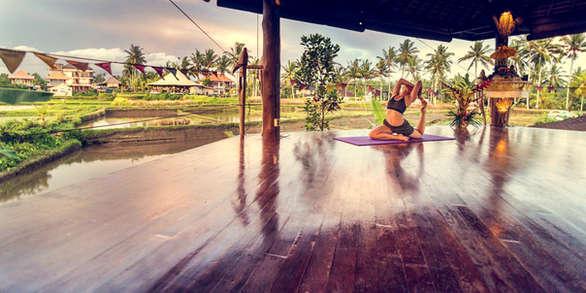Yoga studio at Dragonfly Bali