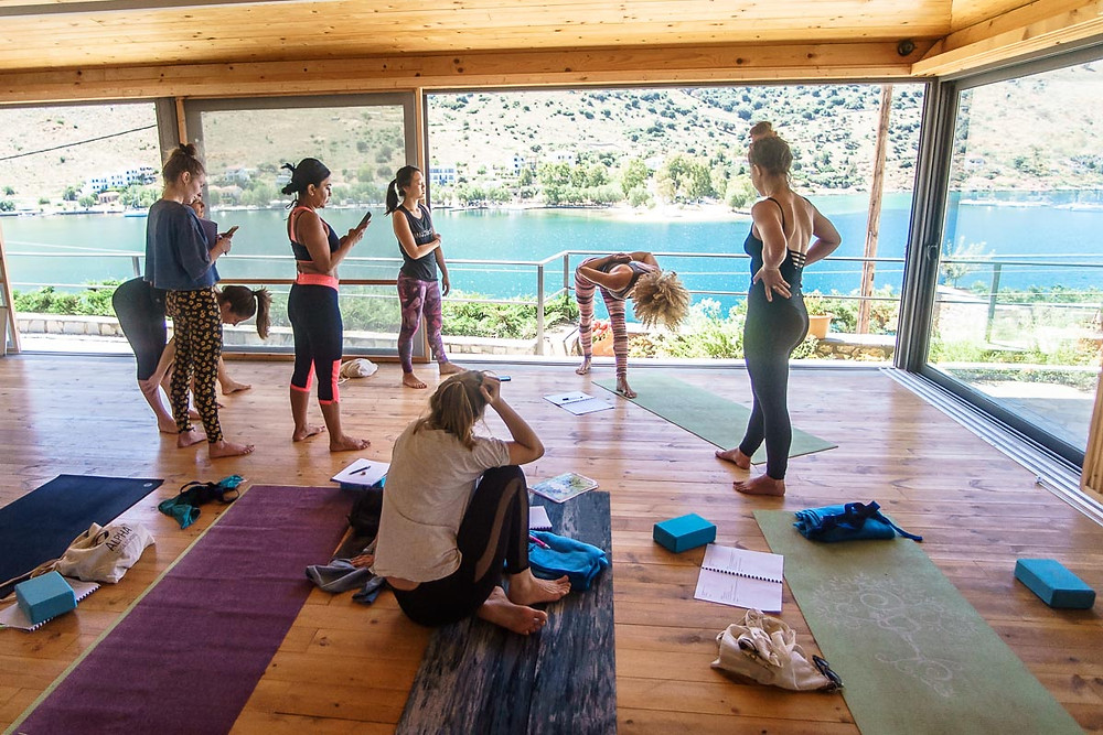 Alpha Yoga School   Join Alpha Yoga School for 200-hour and 300-hour residential, all inclusive Vinyasa Flow and Ashtanga Vinyasa Yoga Teacher Training in Greece, Bali, India, and Spain   Expand your yoga teaching skills on the 300-hour Vinyasa Flow Advanced Yoga Teacher Training Intensive in Greece   Residential, All-Inclusive Yoga Teacher Training in Greece, Bali, India, Spain   Deepen your yoga practice   Experienced Yoga Teachers   Learn safe yoga asana alignment and adjustment, functional yoga anatomy, and yoga philosophy   Practice meditation and pranayama techniques   Study yoga teaching methodology and vinyasa sequencing   Come as a yoga student, leave as a yoga teacher   Teachers trained in India   Yoga Teacher Training in India   Yoga Teacher Training in Bali   Yoga Teacher Training in Spain   Study yoga in an open air yoga studios in luxurious retreat center in South Europe, Greece   Alpha Yoga School Teacher Training Courses are registered with Yoga Aliance USA and Yoga Professionals UK