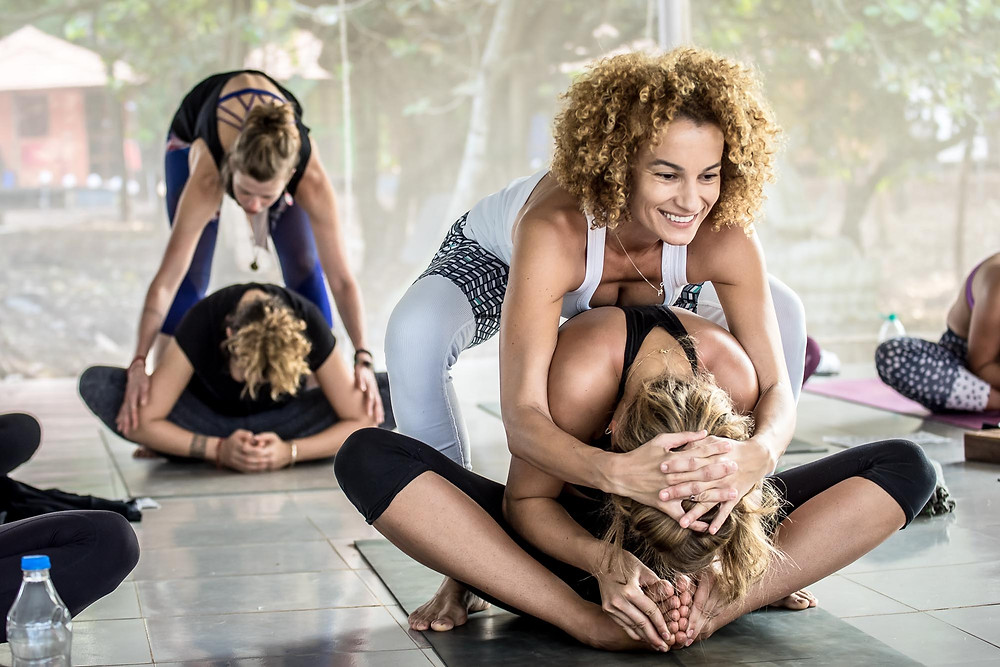 Join Alpha Yoga School for this 200-hour Vinyasa Flow and Ashtanga Vinyasa Yoga Teacher Training in Lefkada, Greece | Alpha Yoga School | Residential, all-inclusive Yoga Teacher Training in Greece | Deepen your personal yoga practice | Experienced Yoga Teachers | Learn safe yoga asana alignment and adjustment, functional yoga anatomy, yoga Vedic philosophy. Practice meditation and pranayama techniques, study yoga teaching methodology, correct vinyasa sequencing | Come as a student, leave as a teacher | Teachers trained in India | Practice and study yoga in an open yoga studio with sea view in Luxurious Yoga Retreat Center in Lefkada Island, Greece | 200-hr Vinyasa Flow and Ashtanga Vinyasa Yoga teacher training in a stunning yoga studio in Lefkada Island, Greece | Alpha Yoga School Yoga Teacher Training Courses are registered with Yoga Aliance USA and Yoga Professionals UK