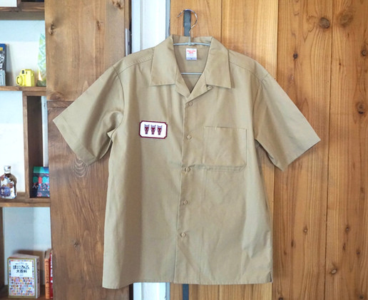 Wappen Open collar shirt