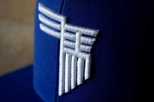Flat visor cap #3.5 三馬blue