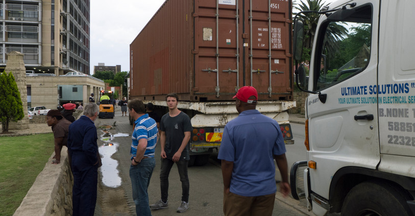 Container arrives in Maseru