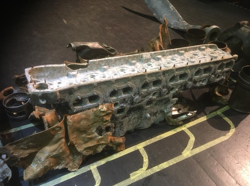 Half a Merlin engine block