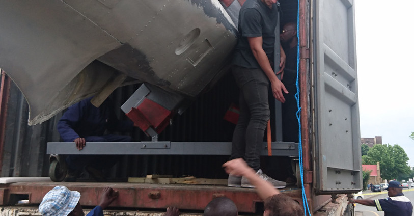 Unloading the Spitfire