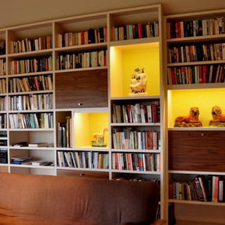 bookcase picture lighting London UK
