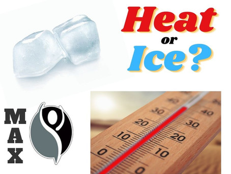 To heat or ice an injury or pain??