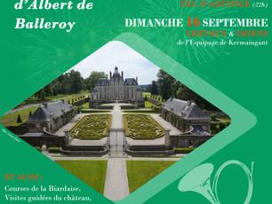 Amaury expose pour les Journées du Patrimoine à Balleroy les 15 & 16 Sept.
