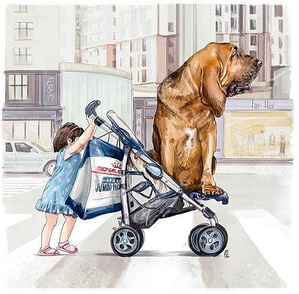 Shopping avec le petit dernier