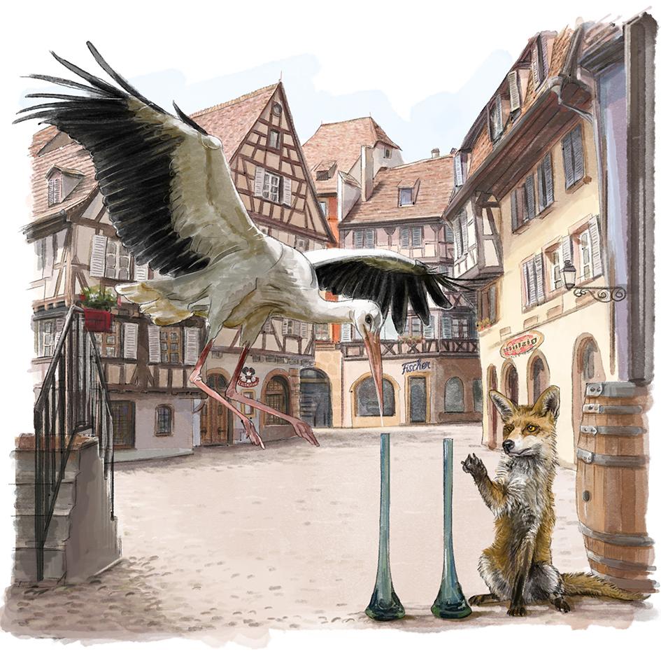 Le Renard & la Cigogne