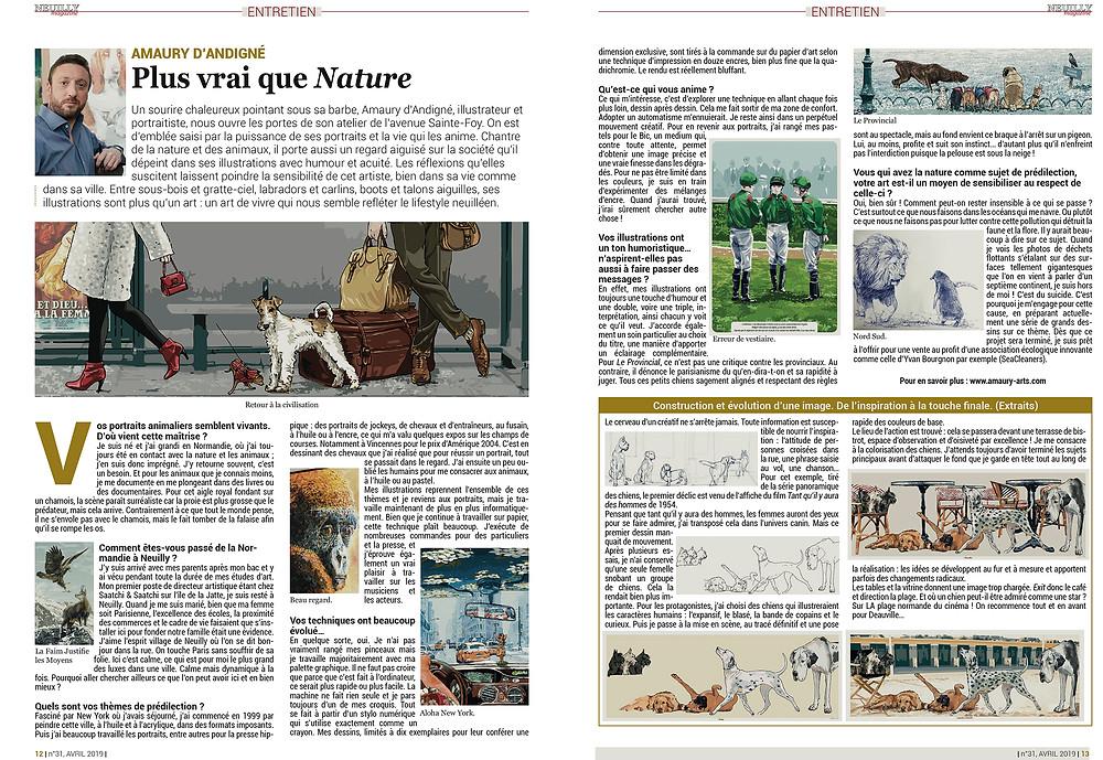 Du texte et des images à retrouver dans le numéro d'Avril. Pour les Neuilléens.