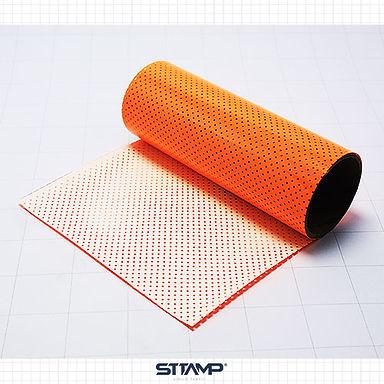 Microperforado Naranja Neon