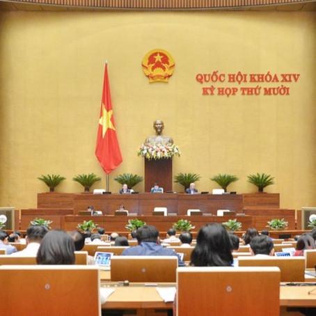 Quốc hội thông qua Luật Thỏa Thuận Quốc Tế