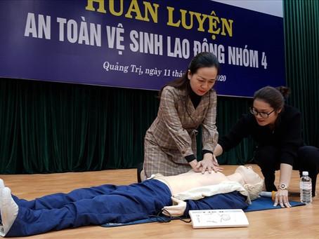 Công ty Điện lực Quảng Trị tổ chức huấn luyện an toàn vệ sinh lao động cho 188 người lao động