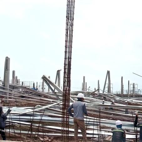Quảng Ninh: Sập nhà xưởng đang thi công ở Khu công nghiệp cảng biển Hải Hà