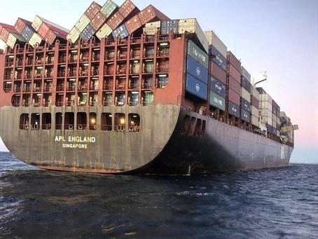 Số lượng container rơi xuống biển trên toàn cầu tăng đột biến
