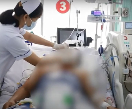 Cứu sống nam công nhân bị điện giật ngưng tim, ngưng thở
