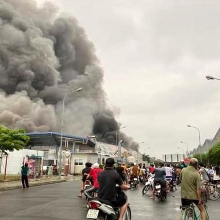 Hải Dương: Cháy lớn tại một công ty trong Khu công nghiệp Đại An mở rộng