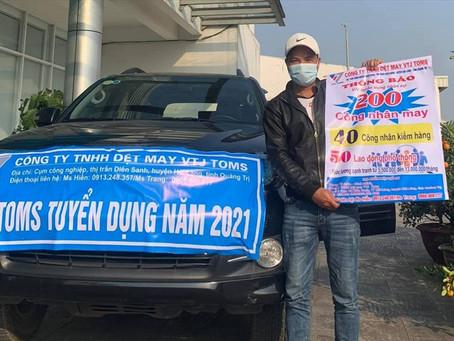 Quảng Trị: Doanh nghiệp dệt may ra đường tuyển dụng công nhân vẫn không đủ số lượng