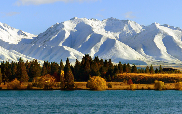 Snow Capped Mountains in New Zealand