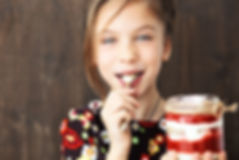 Girl Eating Jam