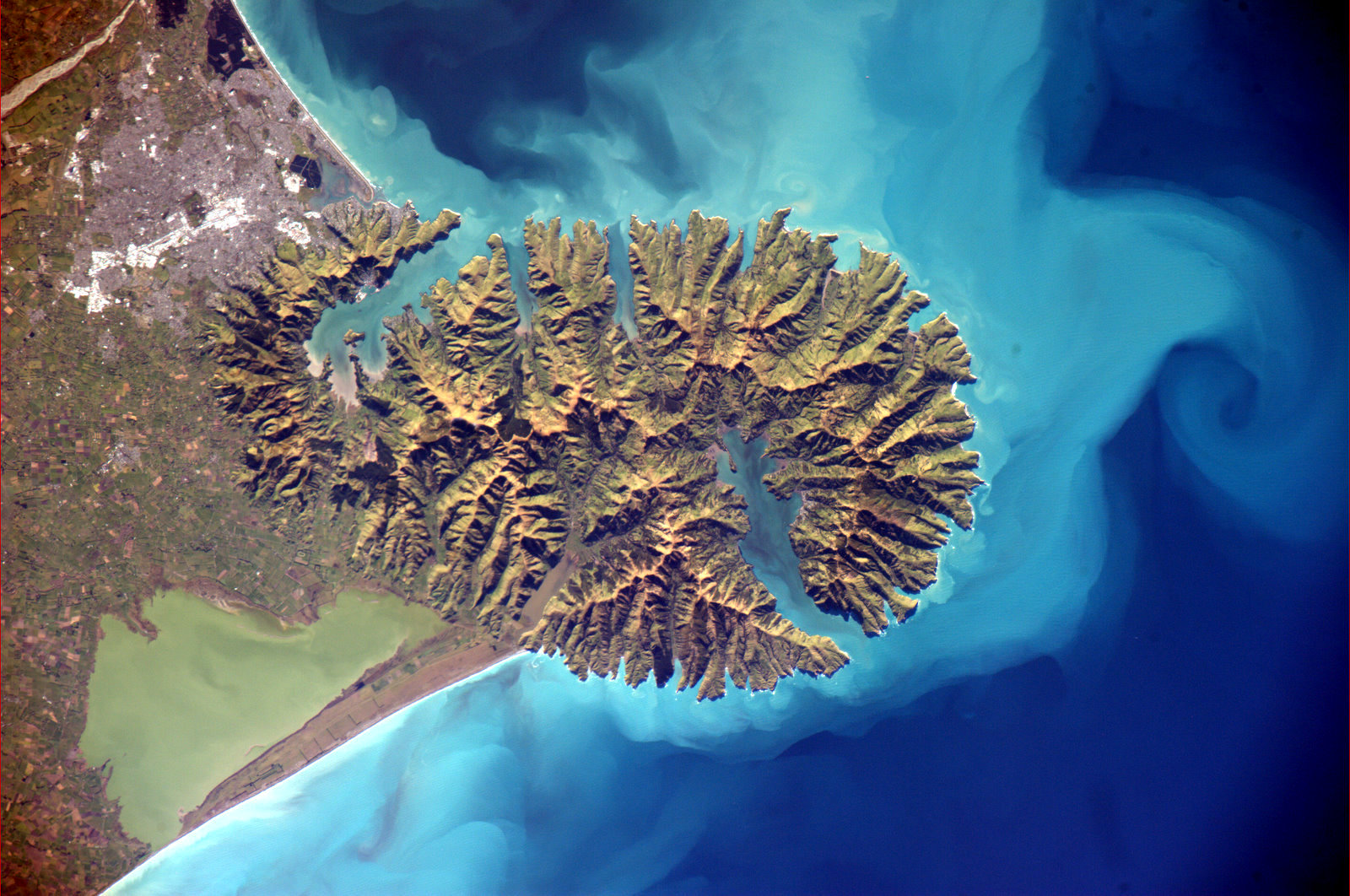 Banks Peninsula from above