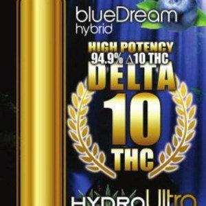 Delta 10 – Full Gram Cartridge – 94.9% THC – Blue Dream