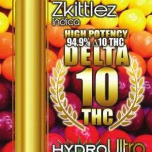 Delta 10 – Full Gram Cartridge – 94.9% THC – Zkittles