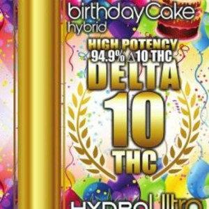 Delta 10 – Full Gram Cartridge – 94.9% THC – Birthday Cake