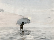 Homme sur l'eau